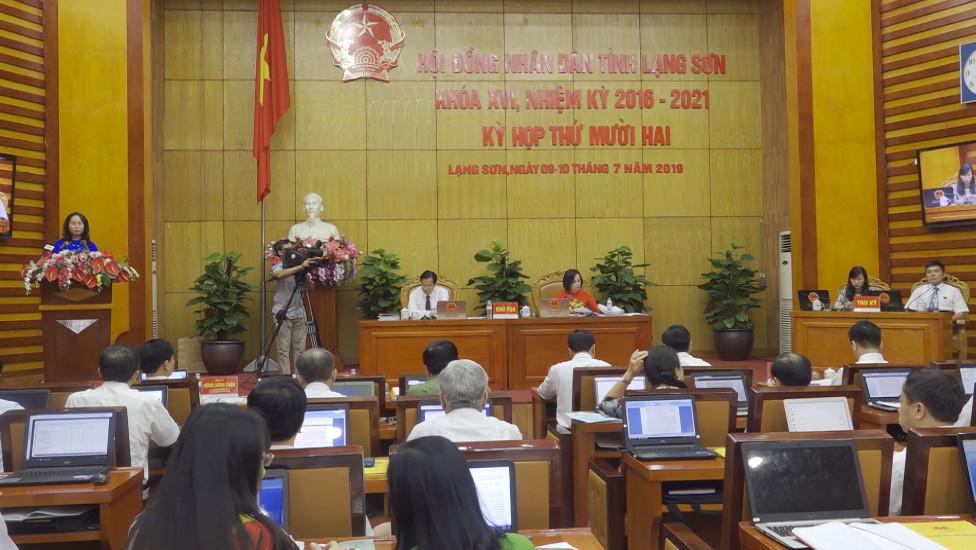 HĐND tỉnh Lạng Sơn khóa XVI nhiệm kỳ 2016 - 2021 khai mạc kỳ họp thứ 12