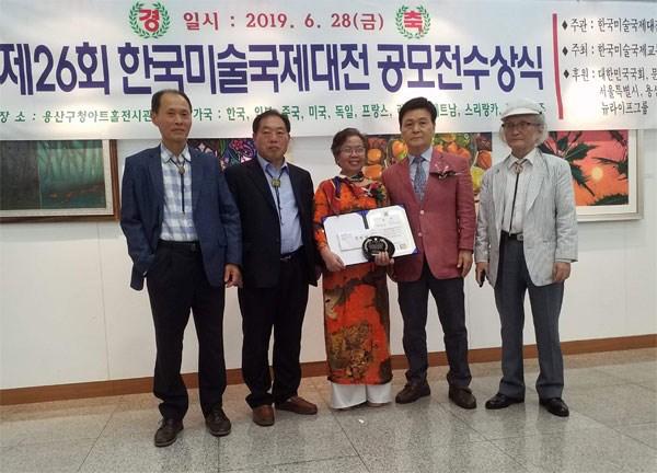Tác phẩm của họa sĩ Việt Nam được đánh giá cao tại triển lãm quốc tế