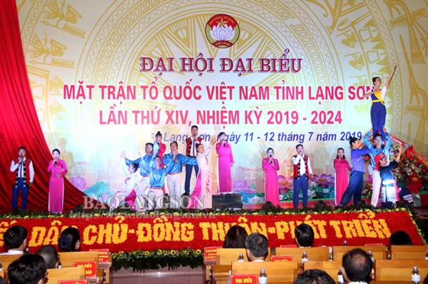 Chương trình nghệ thuật chào mừng  Đại hội đại biểu Mặt trận Tổ quốc tỉnh lần thứ XIV