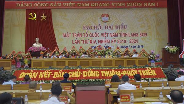 Đại hội Đại biểu Mặt trận Tổ quốc Việt Nam tỉnh Lạng Sơn lần thứ XIV, nhiệm kỳ 2019 - 2024
