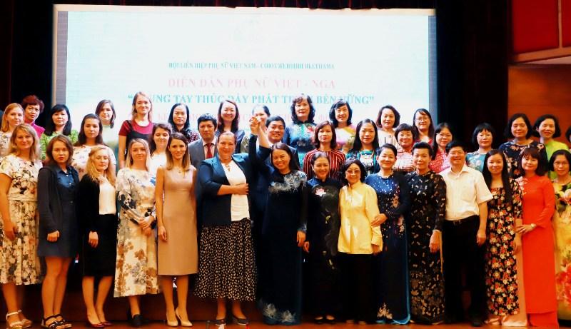 """Diễn đàn Phụ nữ Việt - Nga """"Chung tay thúc đẩy phát triển bền vững"""""""