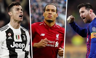 10 ứng viên cuối cùng cho danh hiệu cầu thủ xuất sắc nhất FIFA 2019