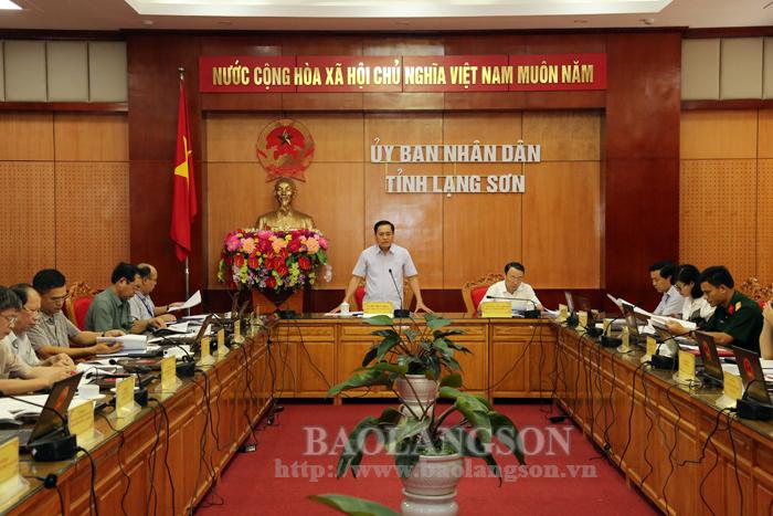 Đánh giá tiến độ công tác chuẩn bị hội nghị Xúc tiến đầu tư tỉnh Lạng Sơn năm 2019