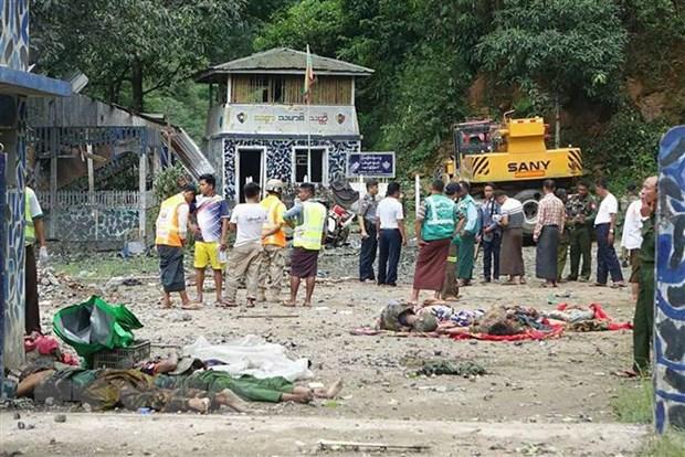 Số người thương vong trong loạt vụ tấn công tại Myanmar tiếp tục tăng