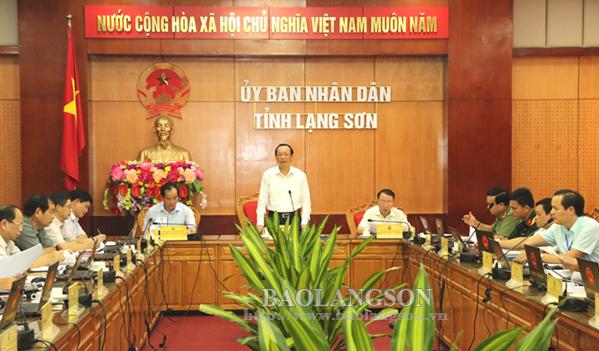 UBND tỉnh Lạng Sơn họp thường kỳ tháng 8