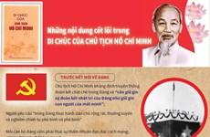 Những nội dung cốt lõi trong Di chúc của Chủ tịch Hồ Chí Minh