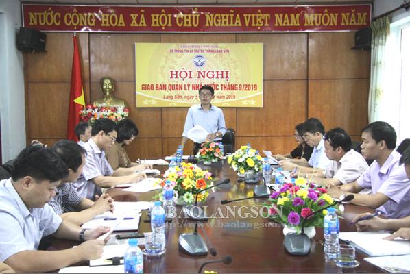 Rà soát các nội dung, công tác chuẩn bị họp báo Hội nghị xúc tiến đầu tư tỉnh Lạng Sơn năm 2019