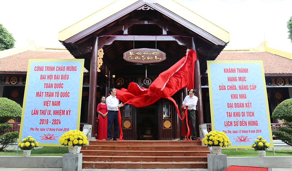 Khánh thành Nhà Đại đoàn kết các dân tộc Việt Nam tại Đền Hùng