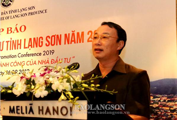 Họp báo thông tin Hội nghị Xúc tiến đầu tư Lạng Sơn năm 2019