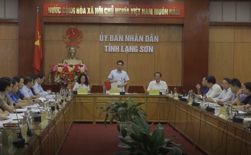 Phó Thủ tướng Chính phủ Vũ Đức Đam thăm và làm việc tại Lạng Sơn
