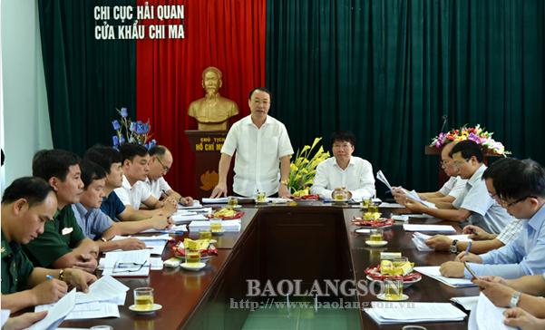 Đoàn công tác của Bộ Y tế và Ban Chỉ đạo 389 Quốc gia khảo sát tại cửa khẩu Chi Ma