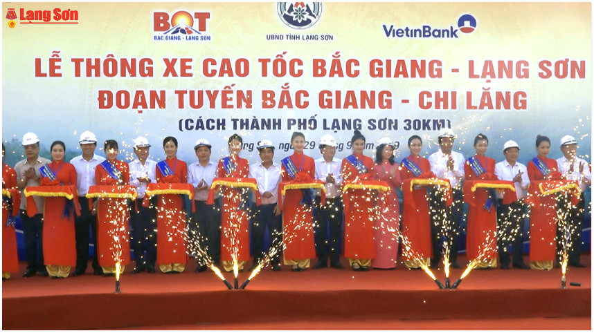 Thông xe kỹ thuật cao tốc Bắc Giang-Lạng Sơn hợp phần 1