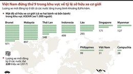 Việt Nam đứng thứ 9 ASEAN về tỷ lệ sở hữu xe cơ giới
