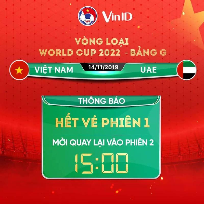 """""""Cháy"""" vé ĐT Việt Nam vs ĐT UAE tại vòng loại 2 World Cup 2022"""