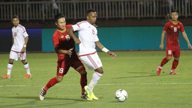 Thi đấu giao hữu, U22 Việt Nam hòa U22 UAE 1 - 1