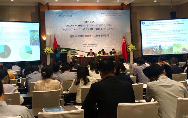 Hợp tác phát triển sản xuất và tiêu thụ chè, cà phê Việt Nam - Trung Quốc
