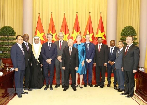 Tổng Bí thư, Chủ tịch nước tiếp các Đại sứ trình Quốc thư