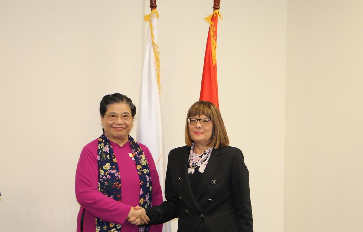 Phó Chủ tịch Thường trực QH gặp gỡ lãnh đạo Quốc hội các nước