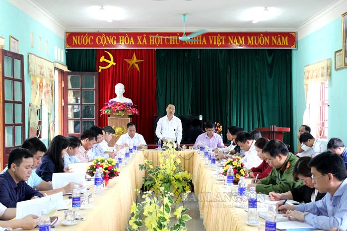 Lãnh đạo UBND tỉnh kiểm tra xây dựng  nông thôn mới tại huyện Bắc Sơn