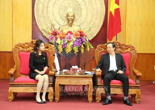 Chủ tịch UBND tỉnh tiếp xã giao  đại diện Tập đoàn Xây dựng Thái Bình Dương