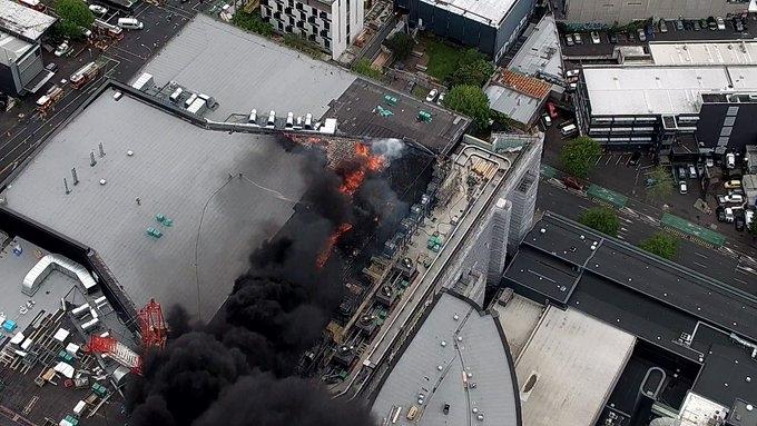 New Zealand: Cháy lớn ngoài tầm kiểm soát ở một trung tâm hội nghị