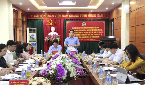Đoàn công tác Trung ương Hội Nông dân Việt Nam kiểm tra việc thực hiện Kết luận 61 tại Lạng Sơn