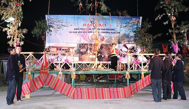 Phục dựng hội Hạn Khuống tại bản văn hóa Him Lam 2