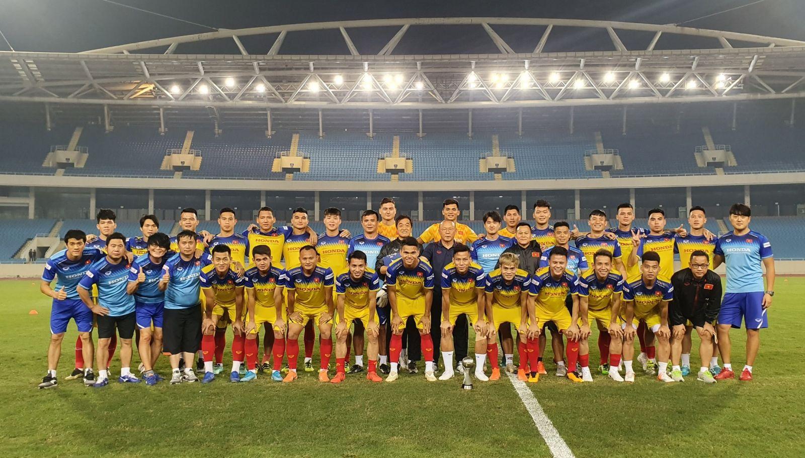 Đội tuyển Việt Nam sẵn sàng cho trận cuối lượt đi vòng loại World Cup