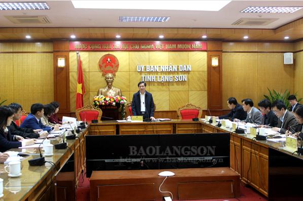 Họp Ban Chỉ đạo Hội khỏe Phù Đổng tỉnh Lạng Sơn năm 2020