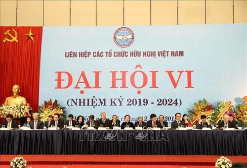 Khai mạc Đại hội đại biểu toàn quốc lần thứ VI Liên hiệp các tổ chức hữu nghị Việt Nam