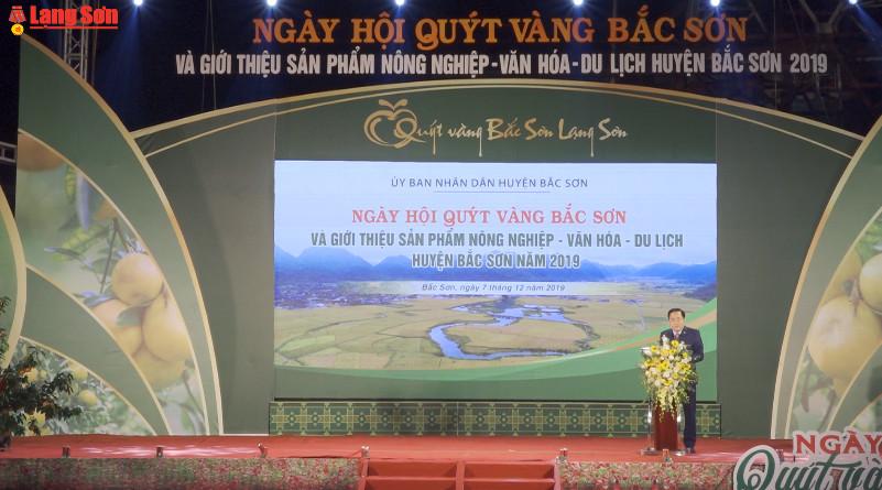Khai mạc ngày hội Quýt vàng Bắc Sơn năm 2019