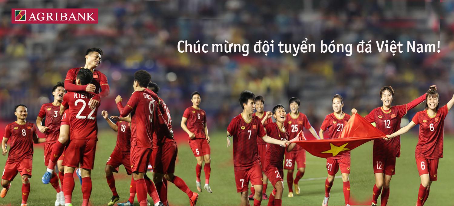 Ngân hàng tặng tiền tỷ cho 2 đội tuyển bóng đá Việt Nam
