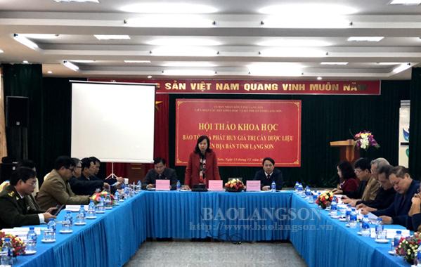 Hội thảo bảo tồn và phát huy giá trị cây dược liệu trên địa bàn tỉnh Lạng Sơn