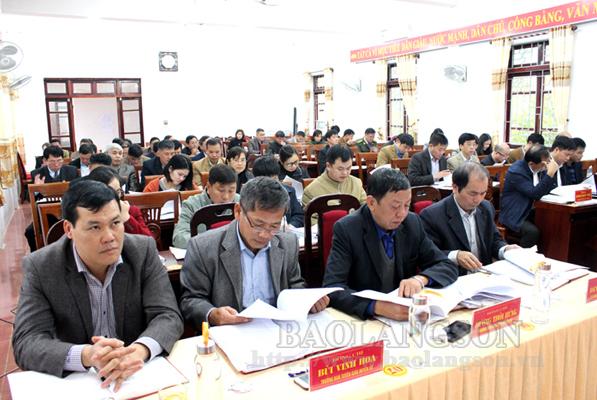Huyện uỷ Bắc Sơn tổng kết công tác năm 2019