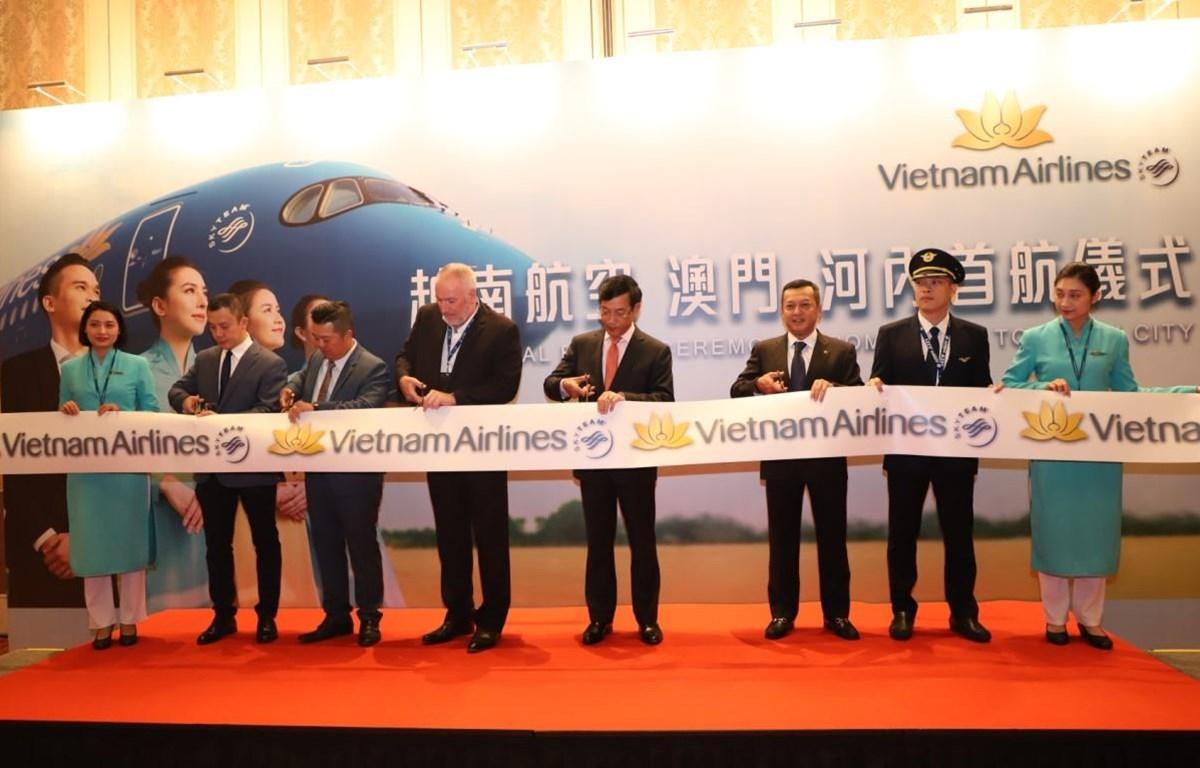 Vietnam Airlines khai trương đường bay mới giữa Hà Nội-Macau