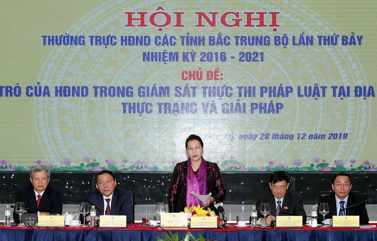 Chủ tịch Quốc hội dự Hội nghị Thường trực HĐND Bắc Trung Bộ