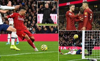 Tottenham và Mourinho gục ngã trước sức mạnh vượt trội của Liverpool