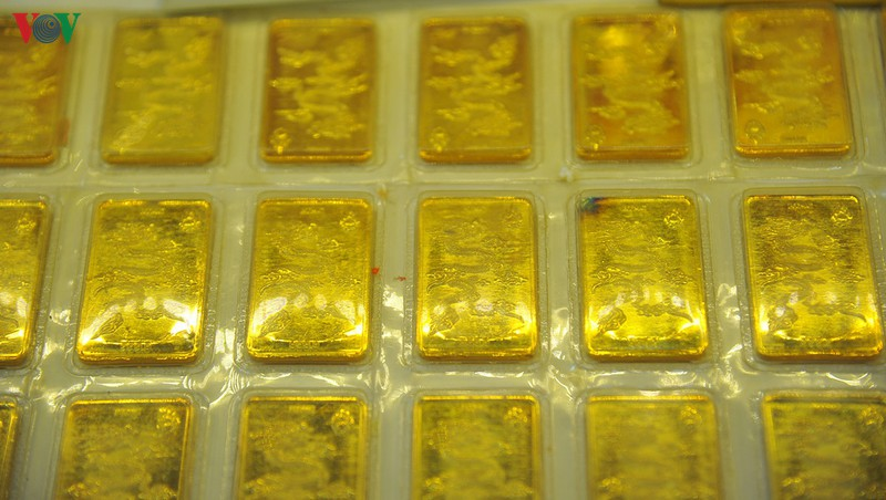 Giá vàng trong nước tăng theo đà tăng của vàng thế giới