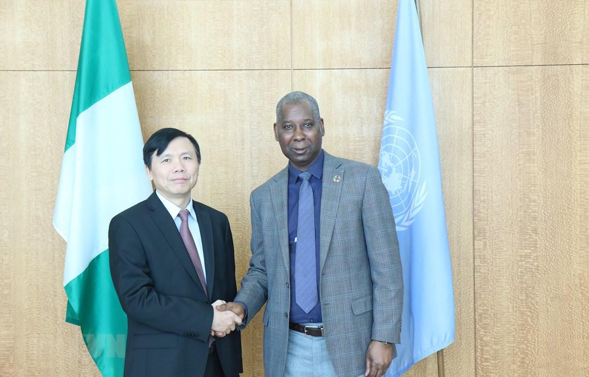 Đại sứ Đặng Đình Quý thảo luận với Chủ tịch Đại hội đồng LHQ khóa 74