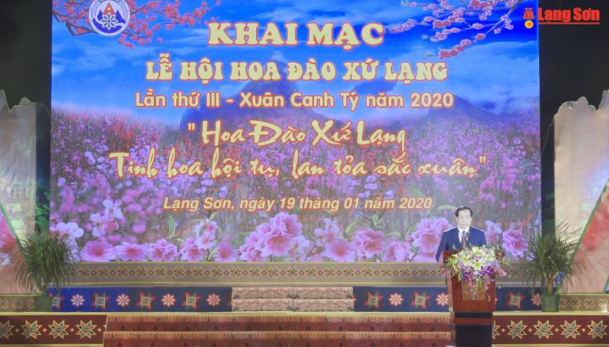 Khai mạc lễ hội hoa đào Xứ Lạng lần thứ III Xuân Canh Tý 2020