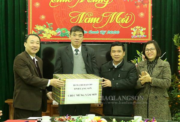 Ban Chỉ đạo 389 tỉnh thăm, chúc tết Báo Lạng Sơn, Đài Phát thanh - Truyền hình tỉnh