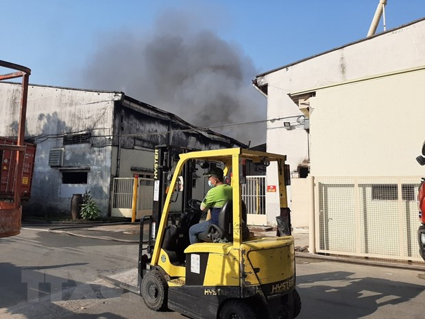Bình Dương: Cháy lớn tại công ty sản xuất gỗ trong ngày cuối năm