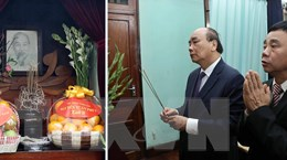 Thủ tướng dâng hương tưởng nhớ Chủ tịch Hồ Chí Minh tại Di tích Nhà 67