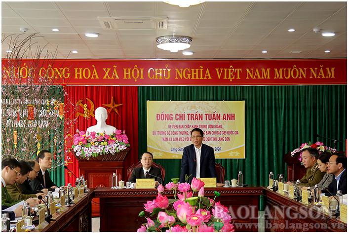 Bộ trưởng Bộ Công thương làm việc tại Lạng Sơn: Phát huy vị thế, tiềm năng kinh tế cửa khẩu