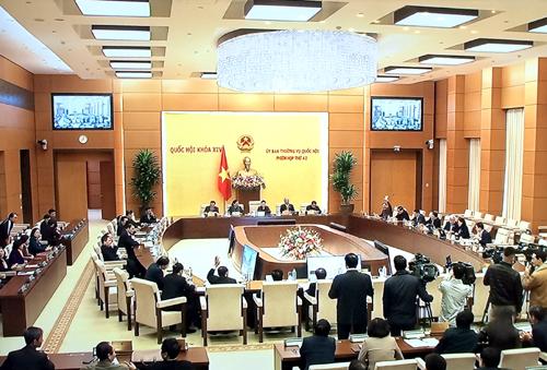 Bế mạc phiên họp thứ 42 của Ủy ban Thường vụ Quốc hội