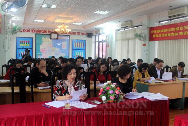 Họp Ban tổ chức Hội khỏe Phù Đổng tỉnh Lạng Sơn