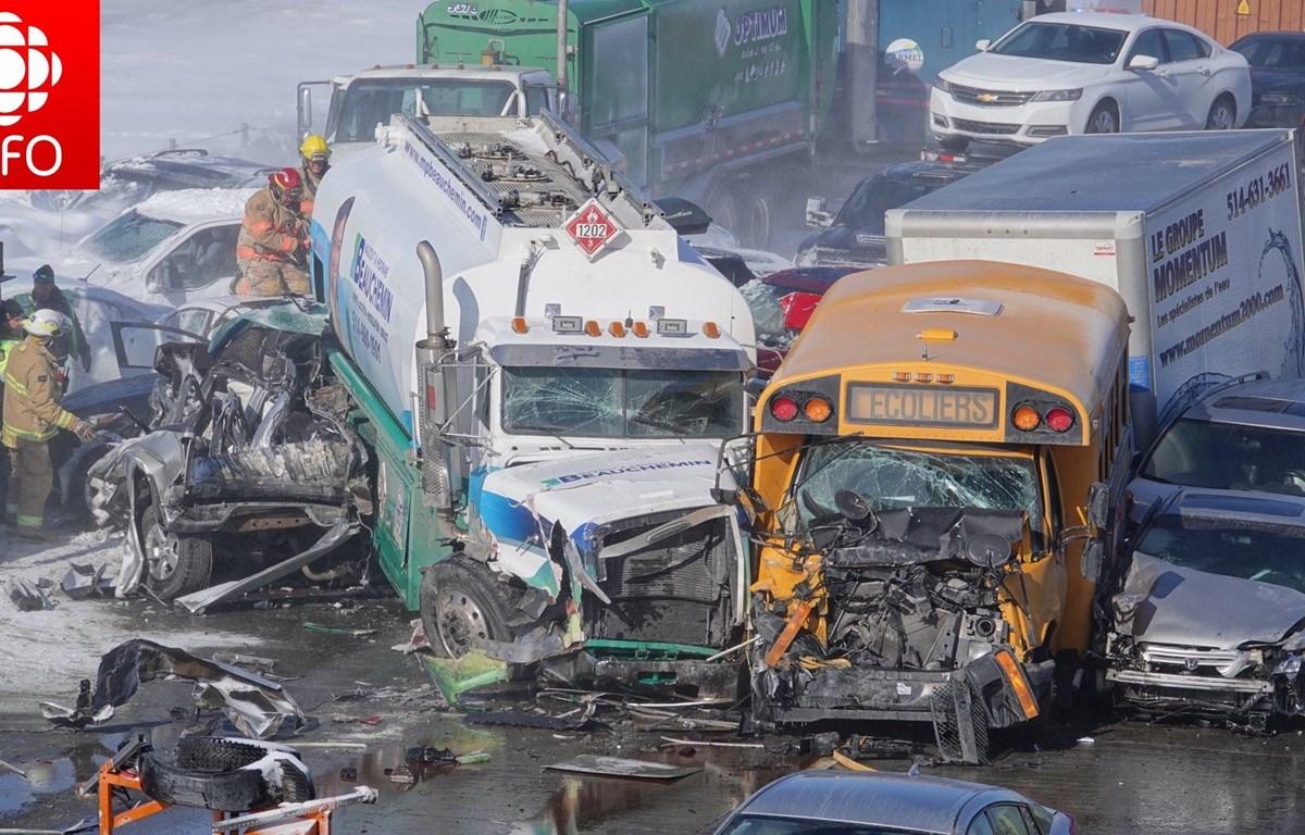 Canada: Đâm xe liên hoàn trên đường cao tốc gây thương vong