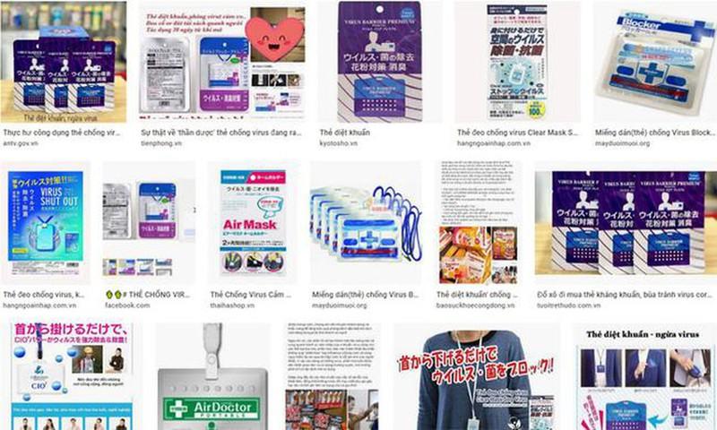 """Thẻ chống virus Covid-19 có """"thần thánh"""" như quảng cáo trên mạng?"""