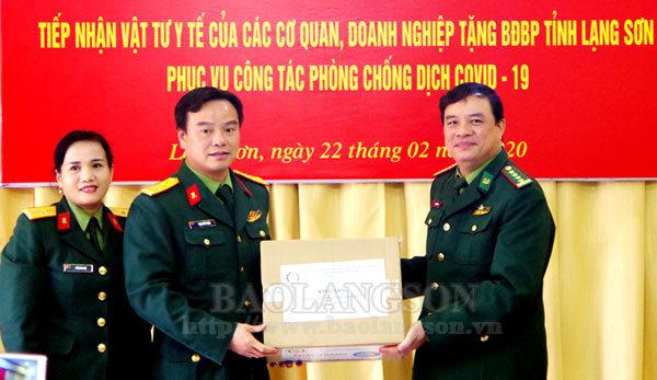 Bộ Chỉ huy Bộ đội Biên phòng tỉnh tiếp nhận vật tư y tế