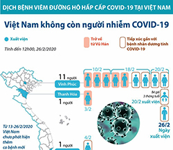 Bệnh nhân thứ 16 xuất viện, Việt Nam không còn người nhiễm COVID-19